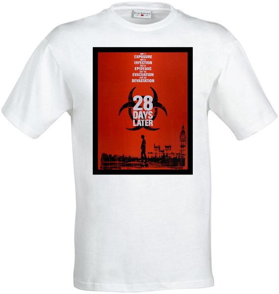 28 Days Later Zombie Movie Poster Artwork Men Woman'S Available T Shirt  White Funny T Shirt Awesome T Shirts From Happytime89, $12 7| DHgate Com