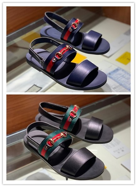 Hot sale in 2019 Slippers Sandals Designer Slides Luxury Top Brand Designer Shoes New Design Huaraches Flip Flops Loafers For Men US 6-11