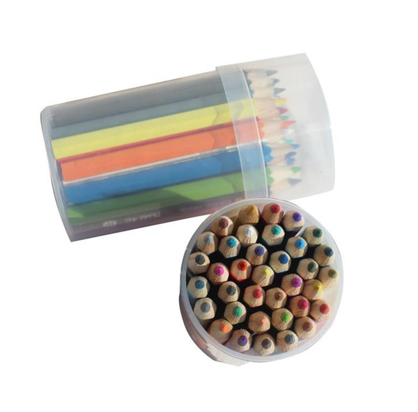 36Pcs/Pack Multi Color 8.8cm Pencils 36 Colors Pencils with Sharpener Cover Drawing Pencil for Art Tools Stationery