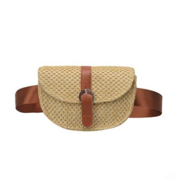 New woven bag straw beach pocket diagonal cross bag fashion mobile phone change gg handbag designer handbag