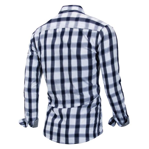 Mens Tops Cardigan Chemises à manches longues T-shirts Casual Tee moins cher à carreaux Plus La Taille En Gros Vêtements