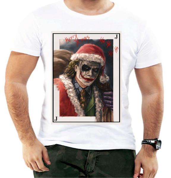 Santa Joker Playing Card Christmas Men T shirt Gift Xmas Present Funny Gift 3XL