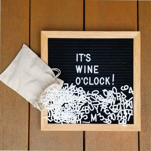 "best selling Black Felt Letter Board 10""x10"" Changable 340 Characters Free Craft Knife and Pouch for Home Office Business Events and Social Media Tools"