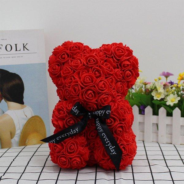 25cm kırmızı rosebear