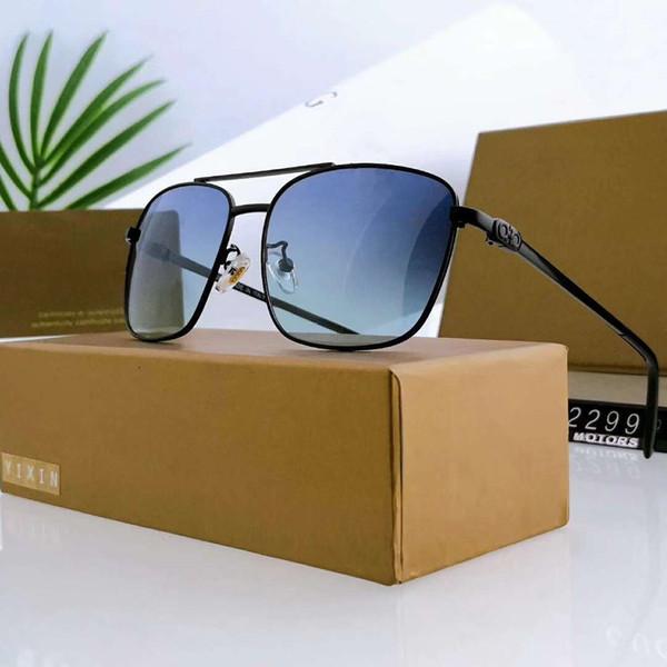 Мужские прямоугольник дизайнерские солнцезащитные очки роскошные солнцезащитные очки металлические Adumbral очки Солнцезащитные очки UV400 2299 5 цветов дополнительно высокое качество с коробкой