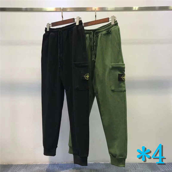 Mens Track Pants Sweater Side Pocket Budge Pants Long For Men Women Pants Terry Asian Size M-2XL*4