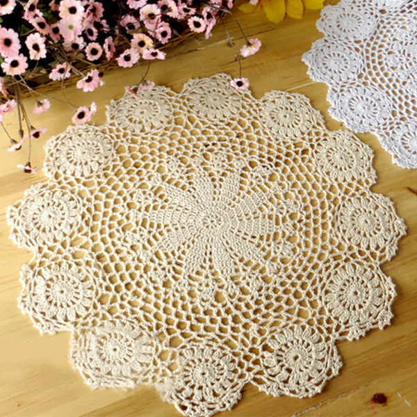 Bowl Water Lily Pad Kitchen Placemat Insulation Round Cotton Table Mats Non Slip Coasters Accessories Handmade Crochet Home