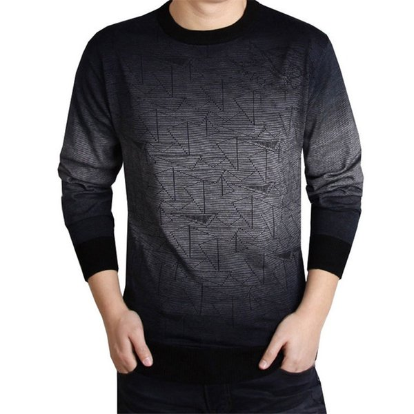 Casual Brand knitted Sweater Men christmas slim knitwear winter male sweter O-Neck patterns pullover sweaters pull homme gray