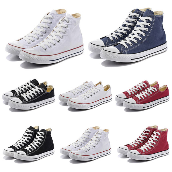 converse canvas all star shoes black white red low high star mens vintage casual shoes women men trainers sports sneakers size 36-44