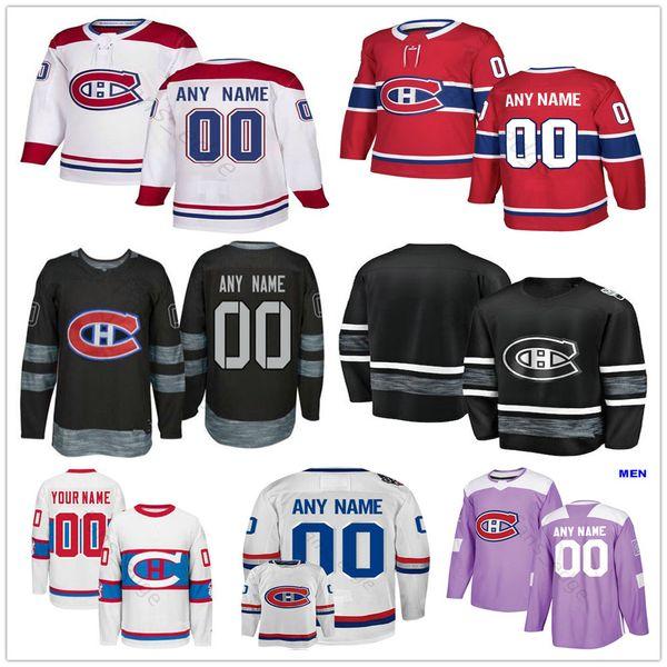Custom Montreal Canadiens #40 Charlie Lindgren 24 Chris Chelios 10 Guy Lafleur 4 Jean Beliveau Men Women Kids Youth Hockey Jerseys