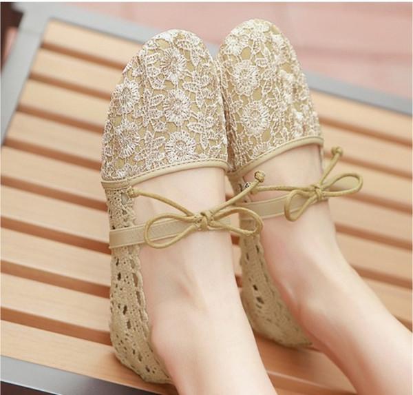 Sapatos de sola macia respirável de sola lisa