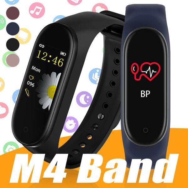 M4 Смарт Браслет Фитнес Tracker с сердечного ритма артериального давления здоровья Часы спорта диапазона смарт-часы для iPhone Android телефона с коробкой