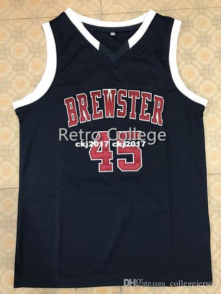 Donovan Mitchell Brewster Academia Top costurados equipamentos de basquetebol Sewn Personalize qualquer número e nome XS-6XL colete Jerseys Ncaa