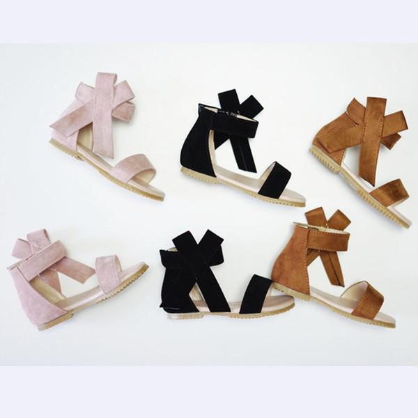 Littlesummer Mädchen Sandalen Open Toe Bow Mädchen Schuhe rutschfeste Kinder Strand Schuhe Kinder Sandalen MX190727