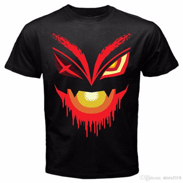 T Shirt Printing Online Short O-Neck Short-Sleeve T Shirts Kill La Kill Japan Anime Series Tshirt Black Basic Tee For Men