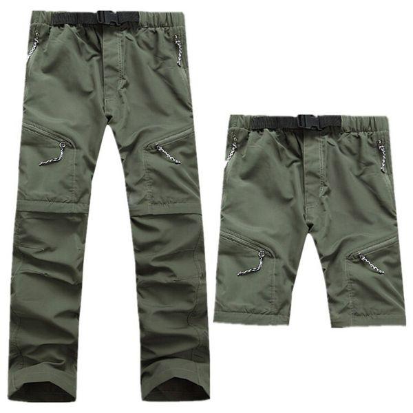 2019 Hızlı Kuru Pantolon Erkekler Çıkarılabilir Açık Havadafishinghikingkamp Nefes Pantolon Erkek Uv Koruma Aktif Joggers Taktik Pantolon