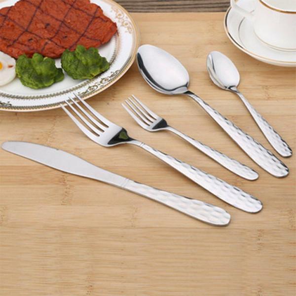 Nouveau Arrivée Portable Déjeuner Vaisselle Couverts en acier inoxydable cuillère Fourchette extérieur chaud