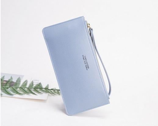 En gros nouveau long portefeuille marque marque zipper bas prix luxe designer femme PU portefeuille multicolore