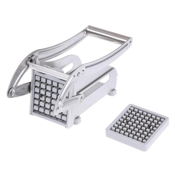 Stainless Steel French Fries Cutters Potato Chips Strip Cutting Machine Maker Slicer Chopper Dicer W /2 Blades Kitchen Gadgets