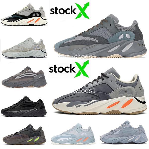 Kanye West 700 V2 statique 3M mauves Inertie 700s coureur de vague Hommes Chaussures de course pour homme femme sneakers sport Athletic bottes de concepteur 5-11.5 1