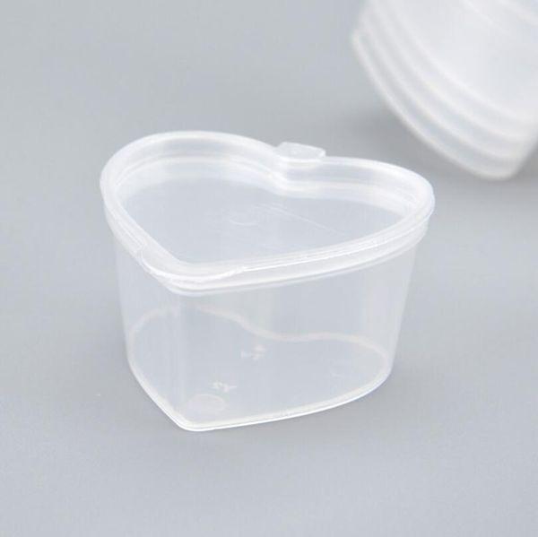 45ml pp. Herz quadratisch geformt gewürzdose einweg tasting cup salatsauce zum mitnehmen