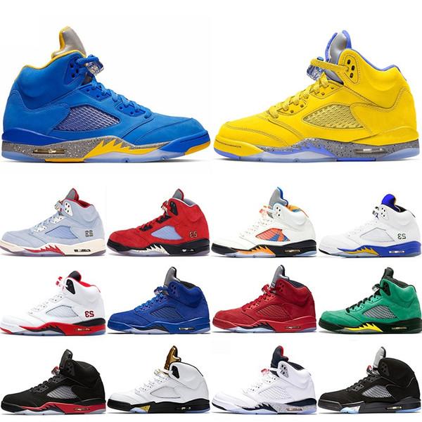 New 5 Men Basketball Shoes 5s Ice Blue International Flight Inspire DUCKS Laney Yellow Mens Designer Trainer Sport Sneaker Cheap Size 41-47
