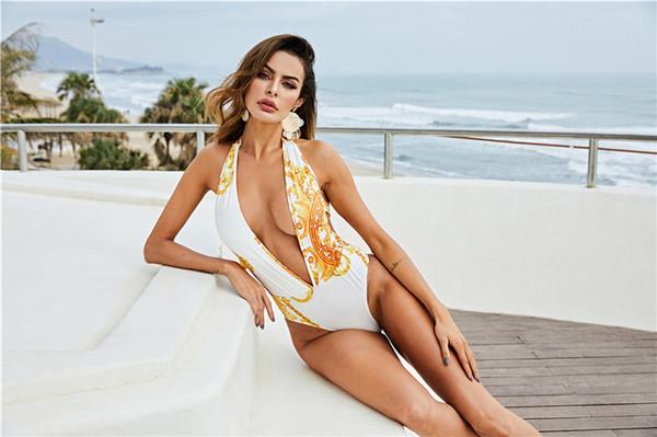 Bayan Yaz Tasarımcı 2 Adet Seksi Bikini V Boyun Plaj Stil Moda Kadın Giyim Yüksek Bel Rahat Giyim