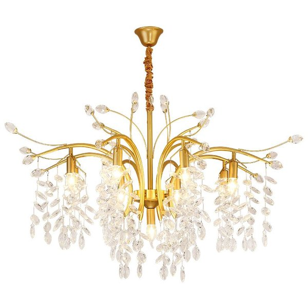 Nuovo designer lampadario di cristallo soggiorno sala da pranzo camera da letto lampadario personalità lampadario moderno lampadario di cristallo scale