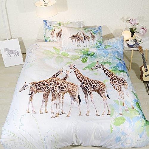 giraffe bed set twin for girls light green bedspreads queen size watercolor coverlet full size white bedding for teen girls NO Comforter