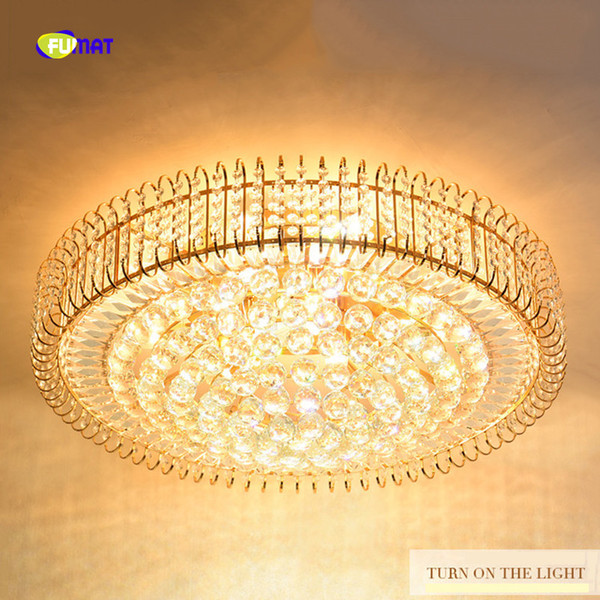 FUMAT Round K9 Crystal Balls Stainess Steel LED Ceiling Lamp Modern Luxury For Dining Room Foyer Kitchen Etc New Hot Sale Lights