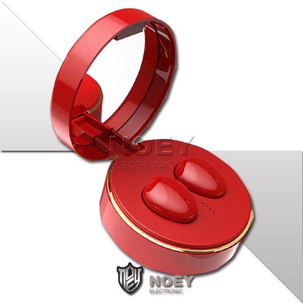 Auricolare senza fili di lusso da donna Bluetooth 5.0 Auricolari stereo in-ear veri stereo Mini Cuffie antivento con scatola di ricarica magnetica Vendita al dettaglio Bo