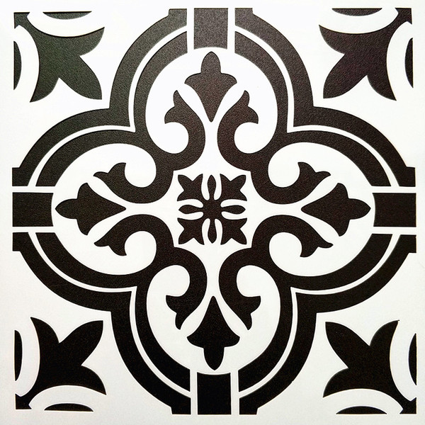 best selling DIY Painting Craft 32*32cm Vintage Pattern Reusable Art Stencils Template For Tile Furniture Wall Painting Decorative DIY Home Decorative
