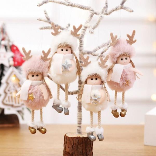 Noel Sevimli Melek Bebek Yaratıcı Dekorasyon Hediyelik Çocuk Asma kolye Noel Ağacı Asma