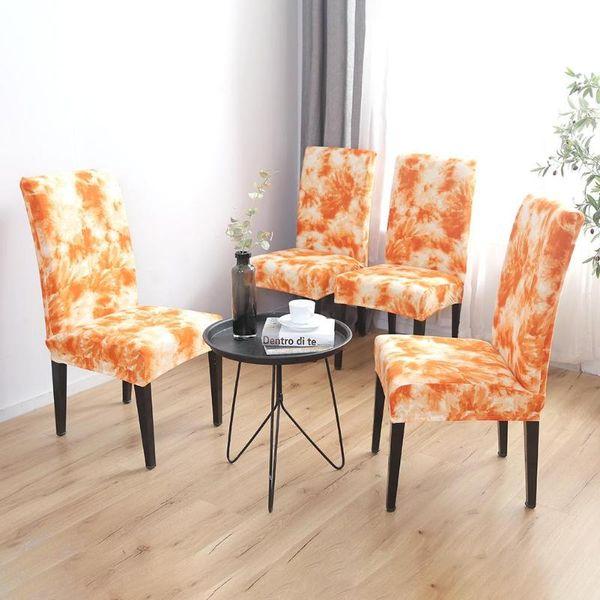 Tremendous Removable Seat Slipcover Graffiti Pattern Thin Stretch Chair Cover Orange Stretch Chair Cover Tie Dye Craft Graffiti Pattern Sofa Recliner Covers Creativecarmelina Interior Chair Design Creativecarmelinacom
