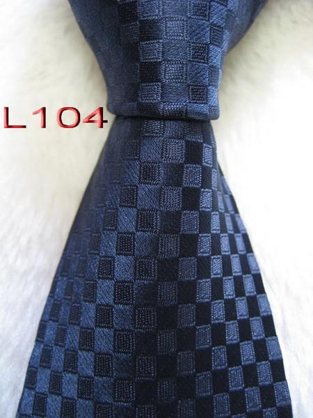 Classical 100% tecido jacquard HANDMADE Mens Projeto Perfect Blue multi cor Estilo Homens de seda Gravata do laço # L104