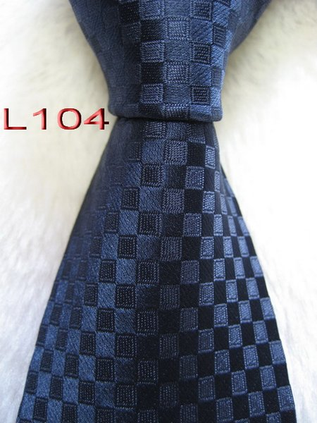 Classical 100% JACQUARD WOVEN HANDMADE Mens Design Perfect Blue Multi color Style Men silk Tie Necktie # L104