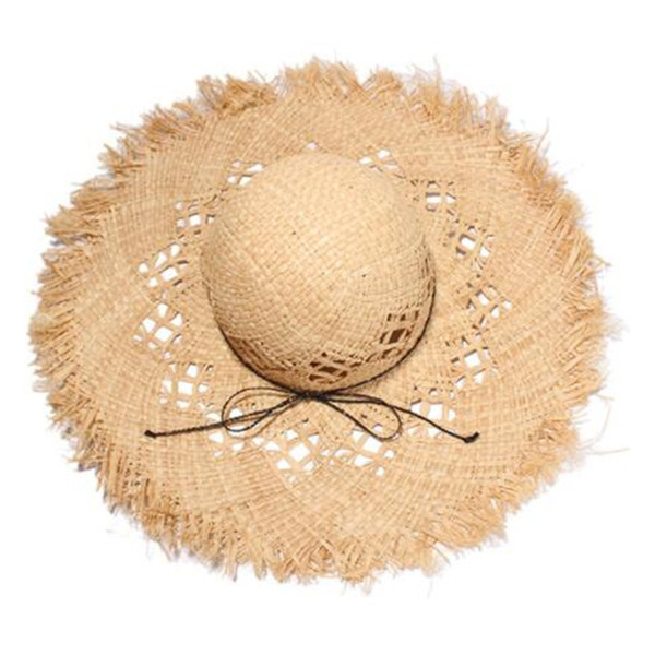 000a4af78dc633 Summer Fashion Designer Lafite Straw Hat Women Wide Brim Hats Outdoor  Sunscreen Beach Hats Breathable Straw