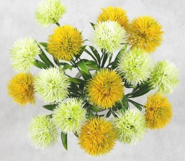 один стебель одуванчик искусственные цветы одуванчик пластиковый цветок свадебные украшения длина около 25 см таблица центральные GB801