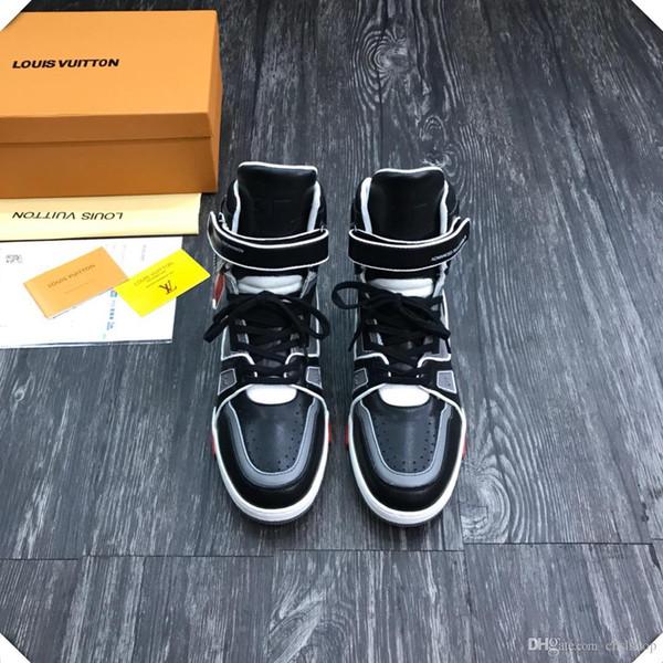 scarpe da tennis casuali scarpe sportive high-top di viaggio Cintura uomo primavera e autunno 2019AN, con micro-serie, con il deliv veloce scatola originale