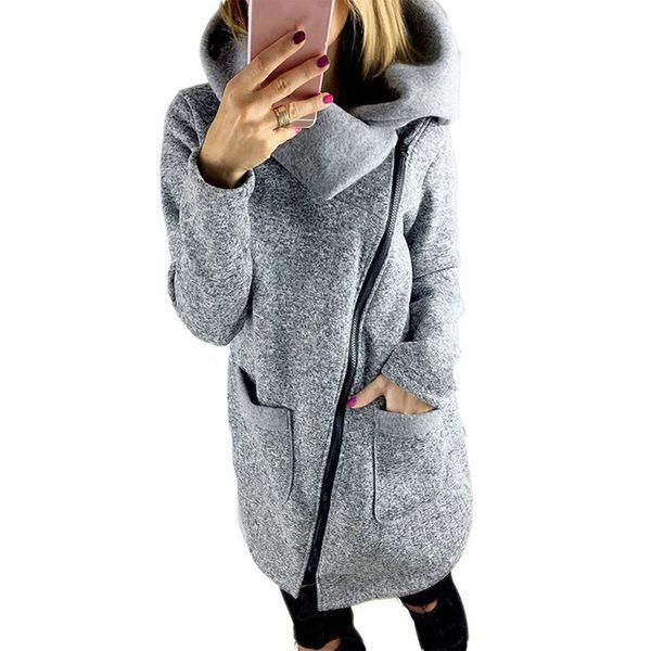 2018 Hot Womens Autumn Winter Warm Long Cardigan Sweater Jackets Ladies Fashion Side Zipper Knitted Outerwear Coat Plus Size 5XL