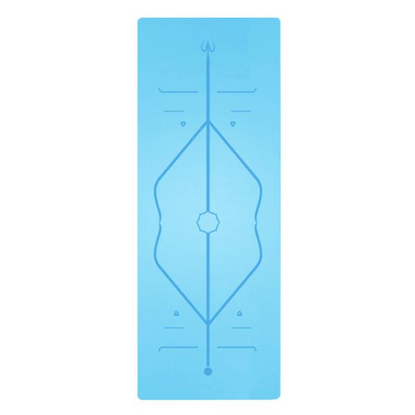 1830 * 680 * 4mm Tapete de Yoga TPE com Posição Linha Tapete de Tapete Não Slip Para Iniciante Esteiras de Ginástica de Fitness Ambiental