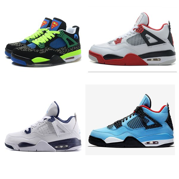 top popular HOT 4s basketball shoes Raptors Gym Red Chicago mens shoes Athletic sneakers Fire Red sports Midnight Navy luxury Royalty shoes EUR 40-46 2019