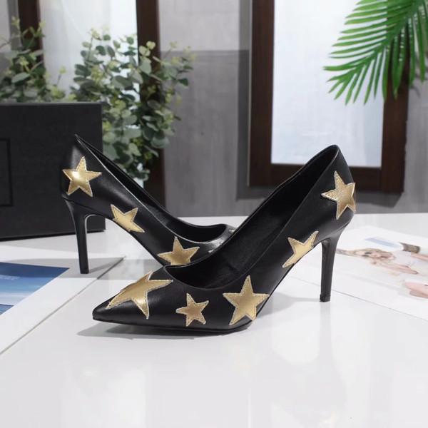 Kutu Ücretsiz Kargo Kadınlar Kız Lüks Yüksek topuklu ayakkabı B104736Y ile Cyboy Boyut 10cm 8 cm 6.5cm Marka Modacı Örgün Yüksek topuklu ayakkabı