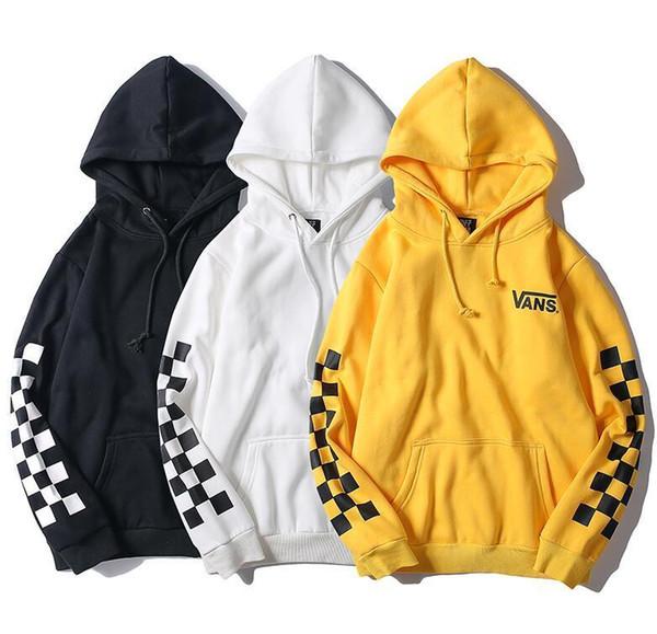 2019 Winter Mens Van Fleece Cotton Hoodies Lattice Long Sleeve Pullover Sweatshirt Men Women Hoodies Sweatershirt Wholesale From Ymb003, $34.68 |