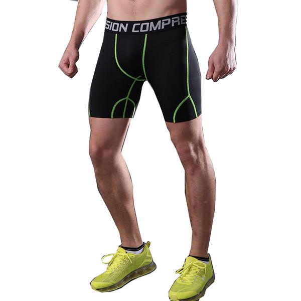 Fanceey Collant da corsa per uomo a compressione corta da uomo Quick Dry Gym Fitness Sport Leggings Pantaloncini da corsa Intimo maschile Pantaloncini sportivi