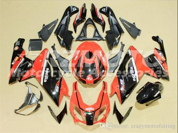 Injection mold Fairing KIT for Aprilia RS4 125 06 07 08 09 10 11 RS4 RSV 125 2006 2009 2011 Red Black ABS Fairings set+3gifts APP11