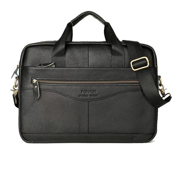 Men Genuine Leather Vintage Briefcase Retro Casual Business Messenger Bags Classic Travel Crossbody Bag Satchel #88356