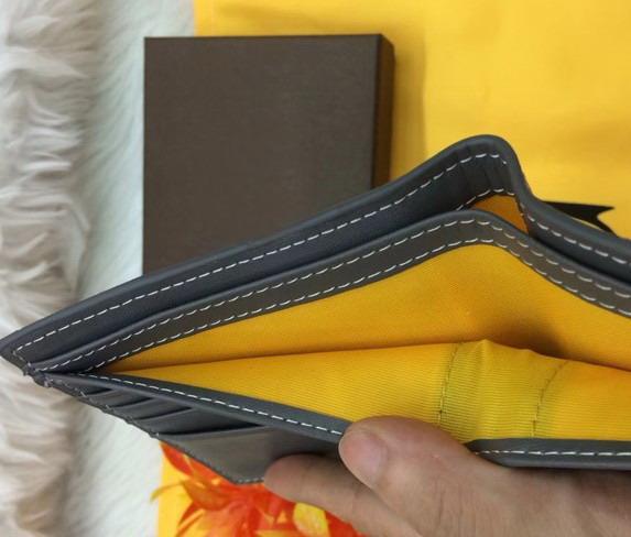 Echtes Leder Paris Plaid Stil Designer Herren Brieftasche berühmte Frauen Luxusmarke spezielle Leinwand mehrere kurze kleine Brieftasche Inhaber