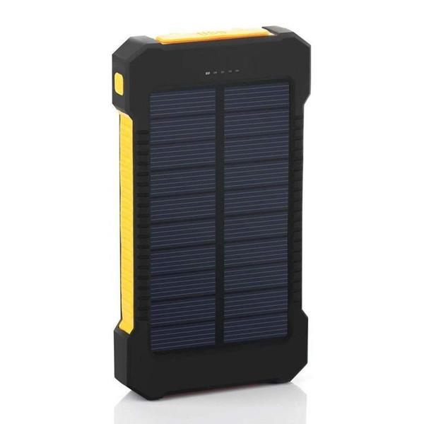 3000mAh Double DC 1A Portable 5V LED Bank 2 2W External Geometric 6000mAh 2A 5V USB Solar Waterproof Power 1A Battery