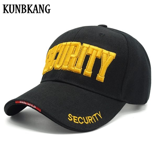 KUNBKANG Navy Tactical Cap Army Baseball Cap Men Black Embroidery SECURITY Men Caps Snapback Hat Trucker Gorras Hombre For Adult